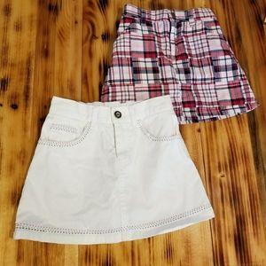 Girls mini-skirts, size 6